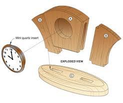 Wood Desk Clock Wood Clock Plans Art Deco Desk Clock Woodworking Plan