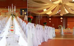 reception hall will turn into a wonderful place decorating with