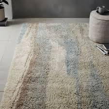 long shag rug marbled wool shag rug light sage west elm