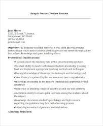 Fresher Teacher Resume Sample Teacher Resume Sample 28 Free Word Pdf Documents Download
