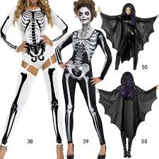Halloween Costumes Skeleton Woman Online Get Cheap Skeleton Catsuit Womens Costume Aliexpress