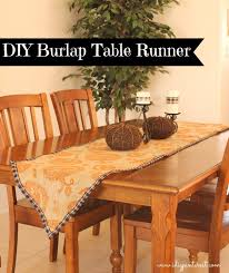 Table Runners For Dining Room Table by Easy Diy Burlap Halloween Table Runner I Dig Pinterest