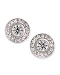 gold diamond stud earrings diamond white gold stud earrings neiman