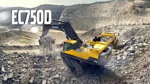 volvo ec750d crawler excavator promotional video jcb cat volvo