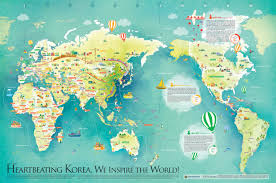 World Map Usa by Unified Korea World Map 통일한국 세계지도 Voluntary Agency