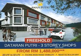 Sho Putri shop for sale at aman putri sungai buloh for rm 1 648 000 by