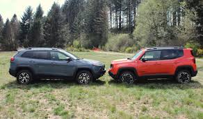 small jeep cherokee jeep renegade vs jeep cherokee how do they size up