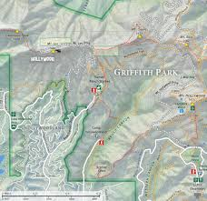griffith park map dan s hiking and bell via brush in griffith park