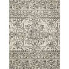 Woven Throw Rugs Style Selections Gabany 5 Ft 3 In X 7 Ft 6 In Rectangular Cream