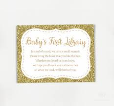 bring a book instead of a card baby shower baby shower invitation book instead of card new gold glitter bring
