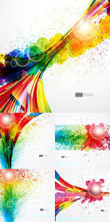 setting of spray paint color pattern vector free vector
