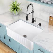Blue Kitchen Sinks Sinks Marble Countertop And Light Blue Cabinet Farmhouse White