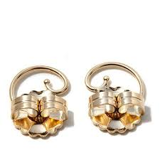 gold ear ring images levears 14k yellow gold earring lifts 7948583 hsn