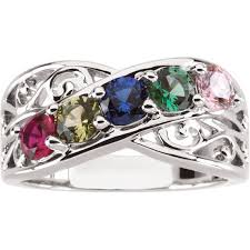 mothers rings white gold best 25 rings ideas on stackable birthstone