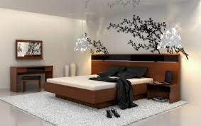 bedroom idea in japanese style with unique ceiling and wooden modern bedroom in japanese inspiration with great wallpaper and white rug idea awesome japanese bedroom