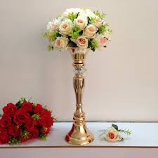 Small Flower Vases Centerpieces Silver Or Gold Wedding Centerpiece Decoration Metal Flower Vase