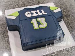 seattle seahawks football jersey cake for a boy turning 13 years
