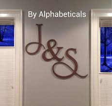 Decorating Wooden Letters Beautiful Decoration Large Letter Wall Decor Warm Large Wooden
