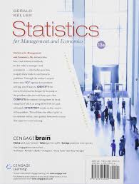 statistics for management and economics gerald keller