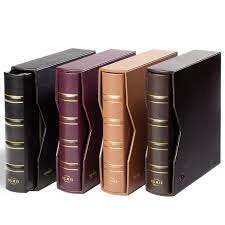 leather album company lighthouse numis leather coin album with slipcase black max