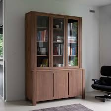 bookcases with doors solid wood tall bookcase with doors white