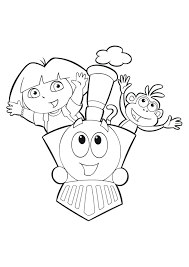 coloring dora coloring games pages explorer pictures