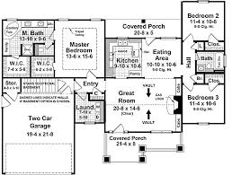 craftsman style house plan 3 beds 2 baths 1509 sq ft plan 21