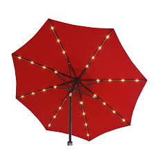 Market Patio Umbrella Shop Simply Shade Market Pre Lit 9 Ft Patio Umbrella At Lowes