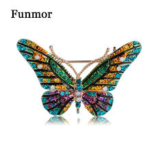 funmor colorful butterfly brooches icon pins dress