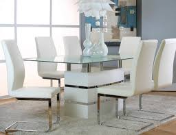 Informal Dining Room Altair White Table 4 Chairs G5001 735 Cramco Casual Dining Sets