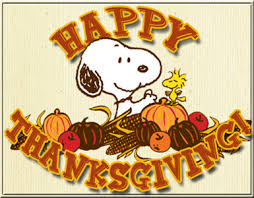happy thanksgiving from snoopy and woodstock the new