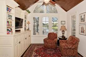 Traditional Interior Shutters Traditional Library With Hardwood Floors U0026 Crown Molding In Ponte