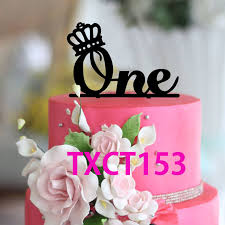 2017 wholesale cake toppers wedding anniversary cake topper one