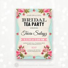 bridal tea party printable bridal shower invitation bridal tea party invite
