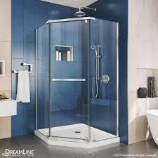 prism neo angle shower enclosure white base kit dreamline