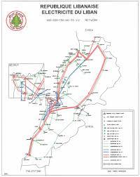 Map Of Lebanon Map Of Lebanese Electricity Grid Lebanon National Energy Grids