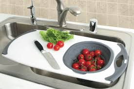 over the sink colander over sink strainer sink ideas