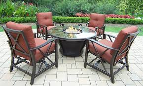 Glass Fire Pit Table Outdoor Patio Furniture Set With A Fire Pit 8 Designs Outdoor