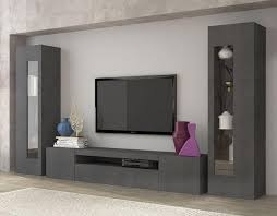modern tv cabinets daiquiri modern tv and display wall unit in anthracite gloss