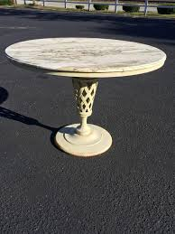 Marble Patio Table Marble Top Iron Patio Table And Chairs For Sale At 1stdibs