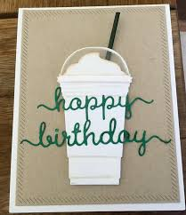 Birthday Card Holder Starbucks Happy Birthday Card With Gift Card Holder For A