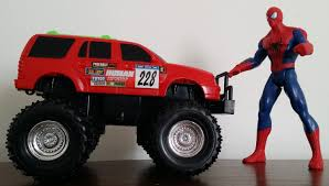 monster truck youtube videos spiderman vs monster truck and disney cars toys pixar youtube