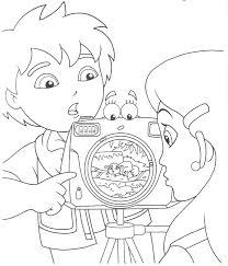 Free Printable Go Diego Go Cartoon Coloring Pages For Kids Go Diego Go Coloring Pages