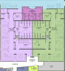 Fitness Center Floor Plans Locker Room Floor Plan Showing Circulation And Adjacent Areas
