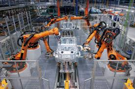 bmw factory robots production