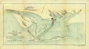 Milton Florida Map by Florida Memory Map Of Apalachicola Bay Florida 1896