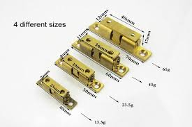 Kitchen Cabinet Door Latches Dhl 70mm Brass Double Ball Catch Furniture Door Stopper Cabinet