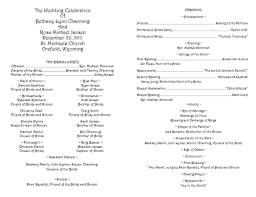 wedding program layouts sle wedding programs template mini bridal