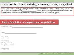 how to write a credit card settlement letter with pictures
