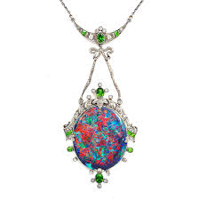 black opal necklace images The superstitious history of opal jewellery the jewellery editor jpg